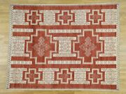 8and0391x10and039 Pure Wool Handknotted Peshawar With Southwest Motifs Rug G36488