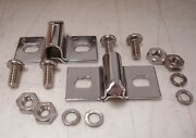 1935 1936 1937 Ford Pickup Truck Front And Rear Hood Bracket Chrome W/ Hardware
