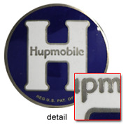 Hupmobile Radiator Medallion 1920s -1930s Cloisonne Dome Shaped Nickel Platted
