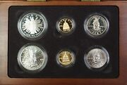 1989 Congressional Commem 5 1 50c Proof And Unc Gold, Silver, Clad 6 Coin Set