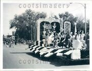 1974 Wire Photo Beauties On Parade Float Chasco Fiesta New Port Richey Florida