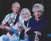 The Moody Blues Fully Hand Signed 8x10 Photo, Autograph Justin Hayward Lodge +1