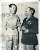 1942 Wire Photo Major General Walter Sweeney With His Son Wwii