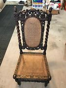 Antique Carved Oak French Renaissance Style Chair
