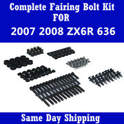 Complete Motocycle Black Fairing Bolt Fasteners Kit For 2007 2008 Zx6r 636 F03