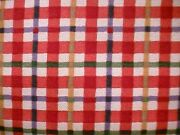 Longaberger Cherry Plaid Fabric-half Yard-new- Shop Store For More Today