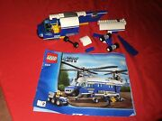 Lego City Police Helicopter Set 4439 W/instruction Manuals Not Complete L@@k