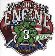 Manchester Engine - 3 Ct Weaver Road 4.5 X 4.5 Size Fire Patch