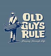 Old Guys Rule Playing Through Life Golf Clubs Bag Balls Irons S/s L