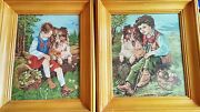 Lot Of Two Lassie Hand Sewing Handmade Arras Pictures