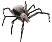 Halloween Huge Spider Led Lighted Eyes Prop Decoration Haunted House 53 Inches
