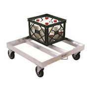 New Age 1622 Open Frame Milk Crate Dolly W/ 16 Crate Capacity