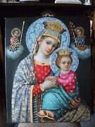 Our Lady Of The Perpetual Help Oil Painting On Canvas Virgin And Child Religious