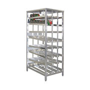 New Age 97294ck First In First Out Stationary Can Rack W/ 156 10 Can Capacity