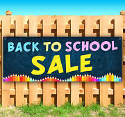 Back To School Advertising Vinyl Banner Sign Large Sizes Business Signs Usa