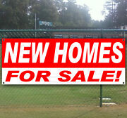 New Homes For Sale Advertising Vinyl Banner Sign Large Sizes Business Signs Usa