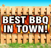 Best Bbq In Town Advertising Vinyl Banner Sign Large Sizes Business Signs Usa