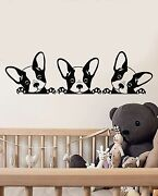 Vinyl Wall Decal Puppies Pets French Bulldog Animals Stickers 1610ig