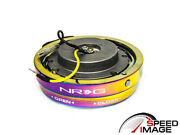 Nrg Steering Wheel 6 Holes Short Thin Quick Release Neo Chrome Srk-400mc Kit