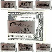 50 Custom Personalized Money Clips Business Promotional Promo Gifts