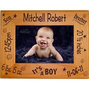 Personalized Picture Frames 4x6 5x7 8x10 Custom Newborn Baby Gifts For Parents