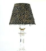 Baccarat Rare Real Feather Table Sconce Hanging Replacement Lamp Gray Shade New