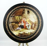 Antique Sevres Extra Large Wall Cabinet Plate Signed Quentin Framed Mop France