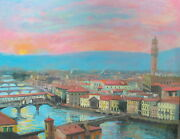 Listed Nino Pippa American Original Painting Florence Sargent Interest 24x30 Coa