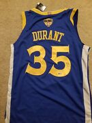 Kevin Durant Signed Golden State Warriors Jersey 4 2 Curry Ticket Psa Finals