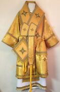 Gold Bishopand039s Vestments With Stikhar Metallic Brocade Orthodox To Order