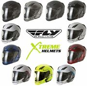 Fly Racing Tourist Helmet Convertible Full Open Face Extra Smoke Shield