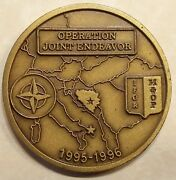 Op Joint Endeavor Special Operations Command Implementation Force Challenge Coin