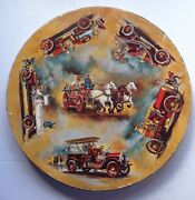 Antique Fire Engines Circular Jigsaw Puzzle Springbok Over 500 Pieces Complete