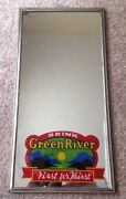 1929 Green River Soda Ad Sign Mirror, Mirro Products, High Point, Nc, Vintage