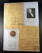 1810 - Georgia Land Deed Scurvin County Signed By Governor David Mitchell