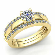 2ctw Round Cut Diamond Womens Bridal Solitaire Engagement Ring 18k Gold