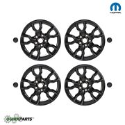 4 New Jet Black 2007-2017 Jeep Wrangler 18 Wheels Rims Center Caps Oem Mopar