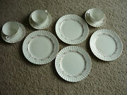 Vintage Fondeville Embassy Ware/ 4 Salads, 3 Cups And Saucers/1928-1938