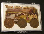 Three Little Indians1897-98-99indianhead Centsall 3 One Pricesnap-lock
