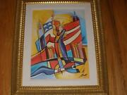 Alfred Gockel New York State Of Mind 19 X 14 Giclee Print Artist Signed Proof