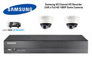 Samsung Cctv Hd 1080p 2mp Night Vision In/outdoor Dvr Home Security System Kit
