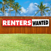 Renters Wanted Advertising Vinyl Banner Flag Sign Large Huge Xxl Sizes