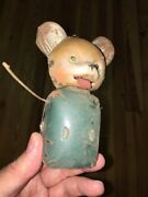 Antique Wind Up Tin Toy Metal Mouse Rare