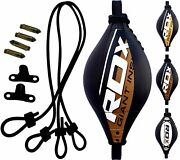 Rdx Punching Double End Speed Bag With Pro Rope Floor To Ceiling Boxing Mma Us