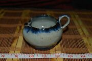 "Beautiful Hand Made Thin Creamer Pottery Studio Art Home Decor Signed 4""x2 1/4"""