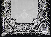 Creative Linens Handmade Reticella Lace Needle Lace Placemat Table Runner White