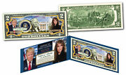 Donald And Melania Trump First Presidential Couple Genuine Official 2 Bill