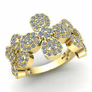 3ct Round Cut Diamond Ladies Personalized Flower Cluster Fancy Ring 14k Gold