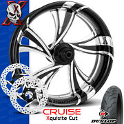 Xtreme Machine Cruise Xquisite Contrast Cut Wheel Front Package Harley 21