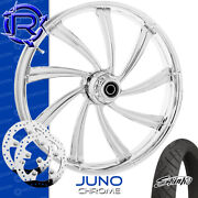 Rotation Juno Chrome Custom Motorcycle Wheel Front Package Harley Touring 26